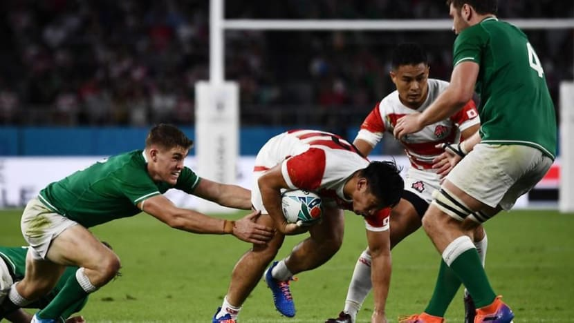 Rugby World Cup hosts Japan shock Ireland 19-12