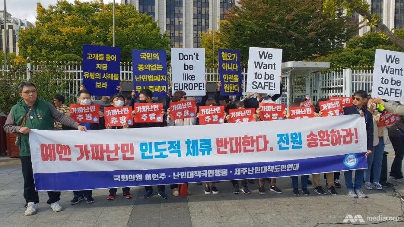 Hostile welcome: Protests, hardship greet Yemeni nationals seeking refugee status in Jeju