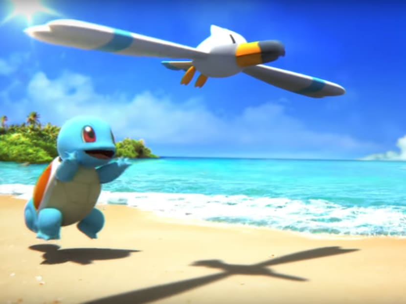 Spend a day at the beach with your Squirtle in this Pokemon ASMR video