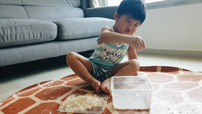 Lego sushi, artificial snow, obstacle courses: Parents get creative during the COVID-19 circuit breaker