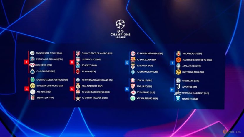 Football: Champions League group stage draw