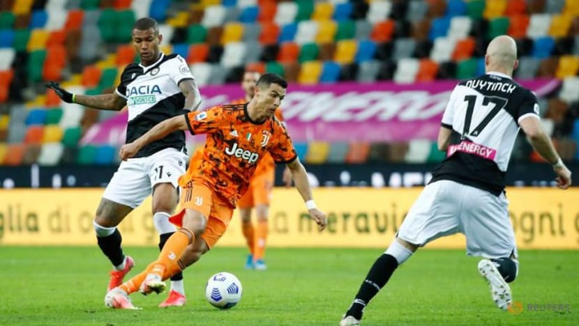 Football: Ronaldo saves Juventus blushes as late double downs Udinese