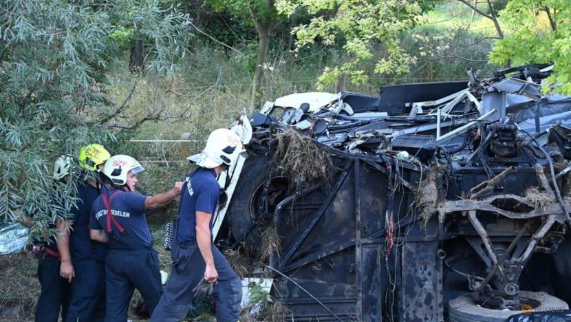 Eight people killed, dozens injured in Hungary bus crash