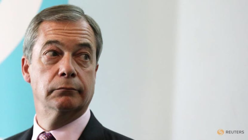 UK's Farage withdraws Brexit threat to PM Johnson
