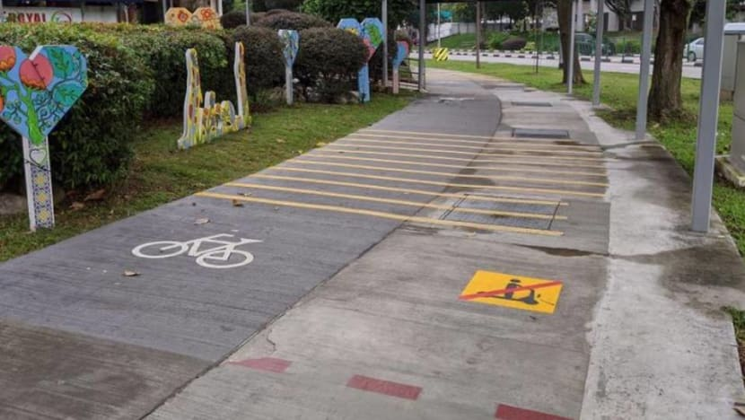 New markings on footpaths to help e-scooter riders distinguish between lanes: LTA