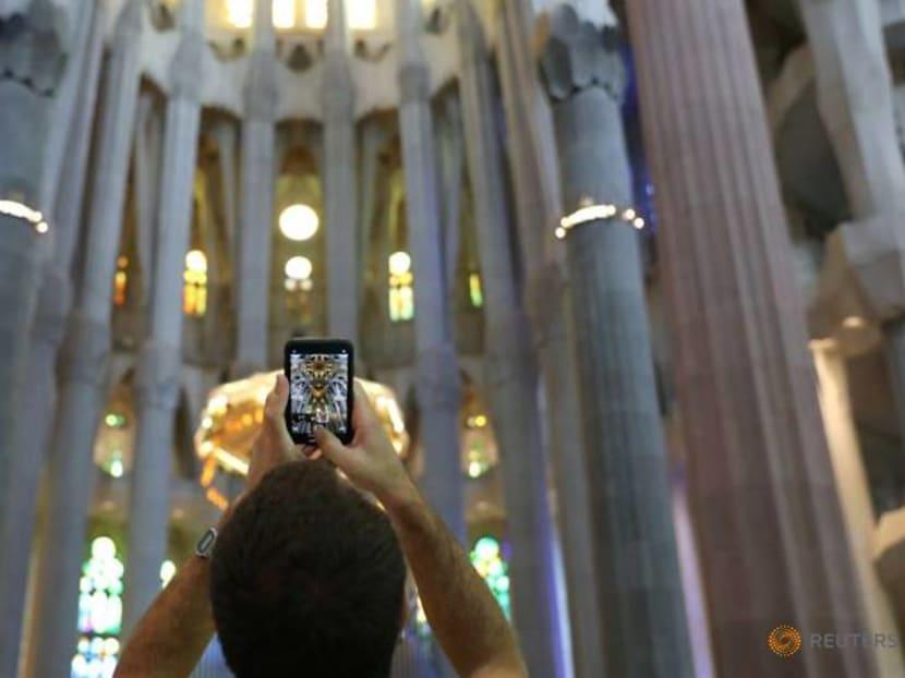 Barcelona's landmark Sagrada Familia reopens for essential workers