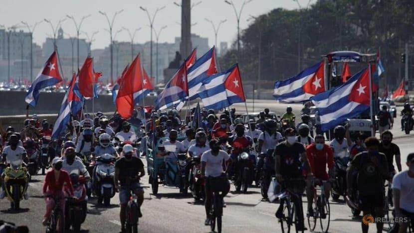 Cubans stage caravan to protest US trade embargo, sanctions