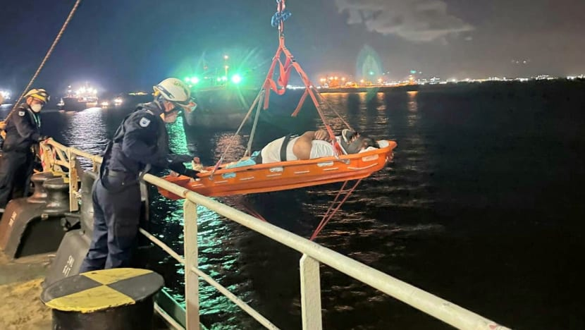 Injured crew member taken to hospital after SCDF marine rescue operation