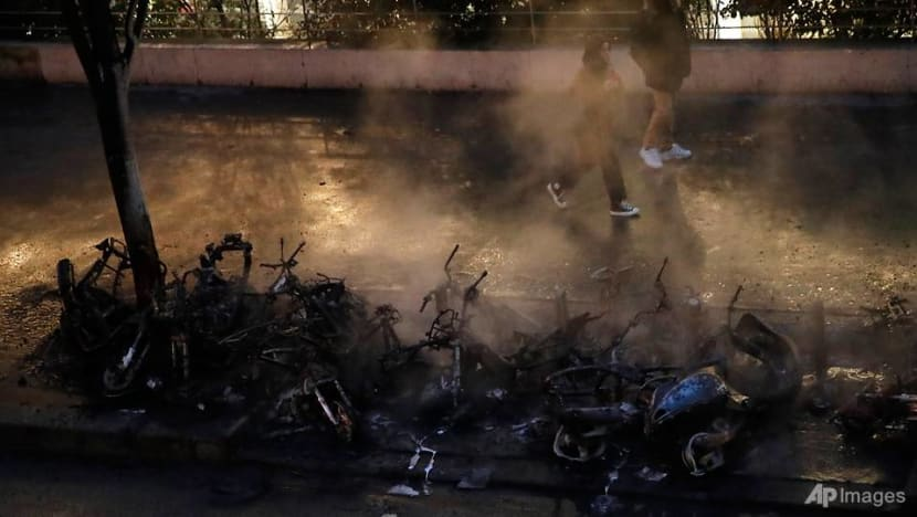 Fire in Paris, train station partly evacuated during protests: Police
