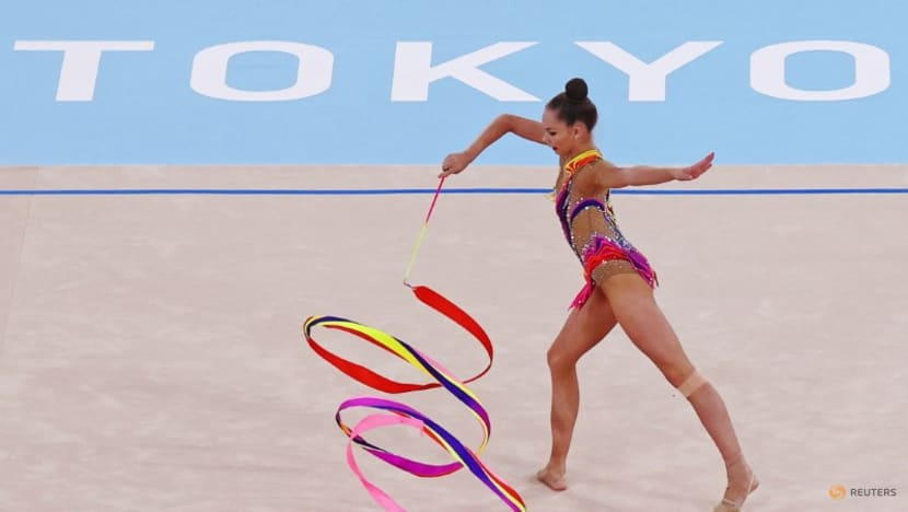 Olympics-Rhythmic Gymnastics-Bloody noses and back surgeries: gymnasts pay high price to compete