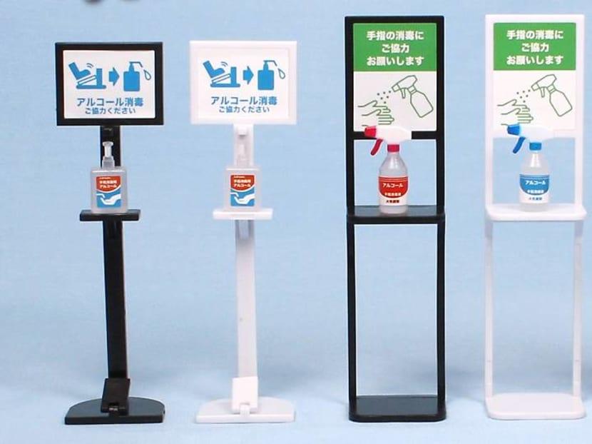 Fancy a pandemic souvenir? Japan has hand sanitiser stand gacha capsule toys