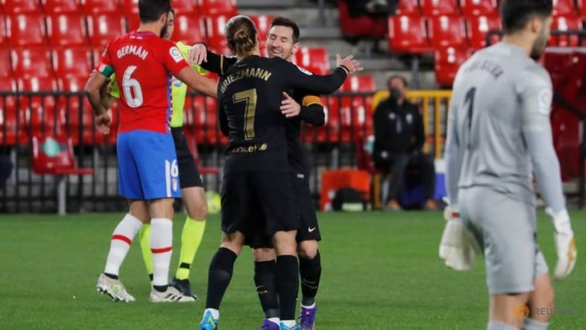 Football: Messi and Griezmann put on show as Barca out-class Granada