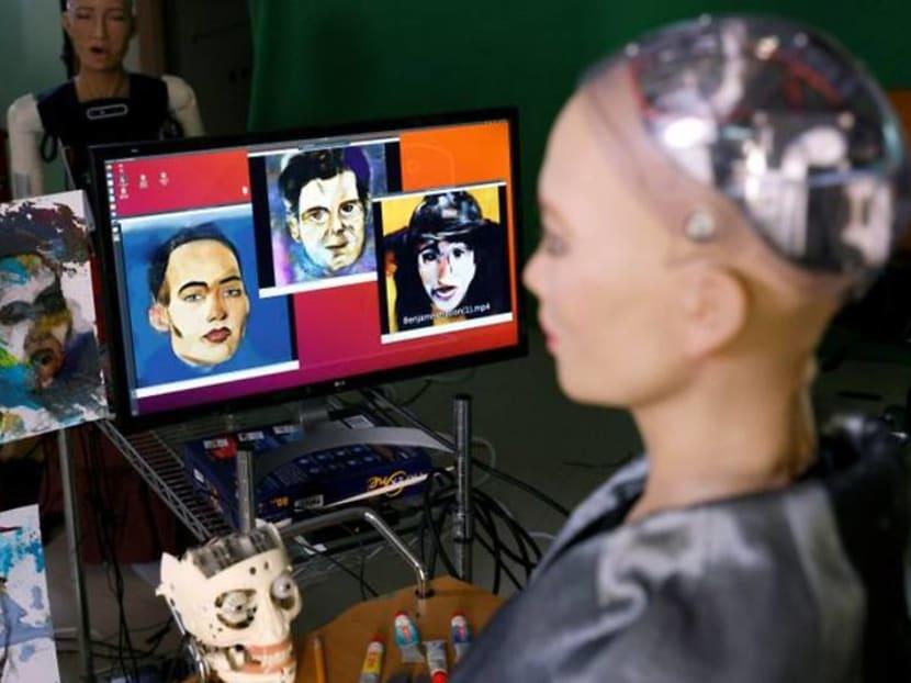 NFT digital artwork by humanoid robot Sophia up for auction