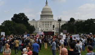Sparse attendance at rally in support of US Capitol rioters