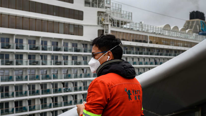 Hong Kong conducts health checks on cruise ship denied Taiwan docking