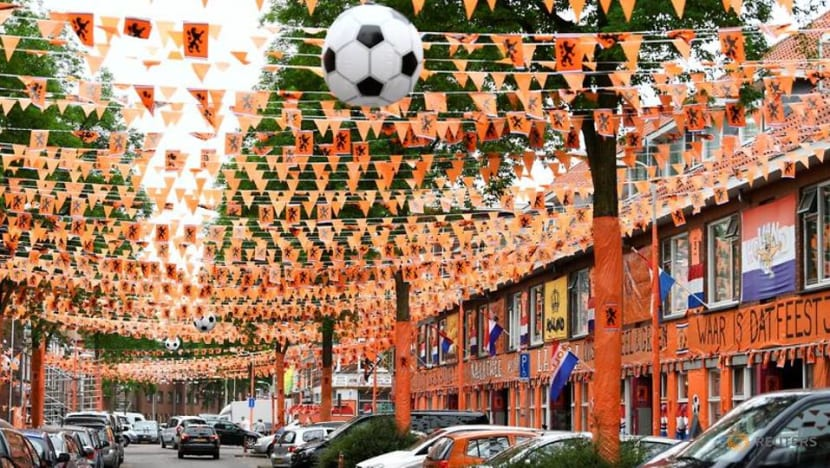 Football: Dutch street turns totally orange in support of national team
