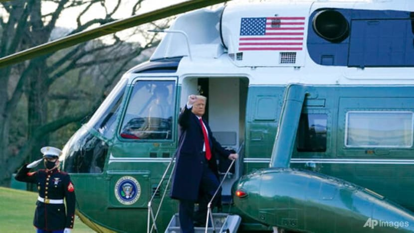 Trump leaves White House for the last time as US president