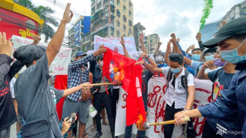 Myanmar anti-coup activists protest as US seeks regional action