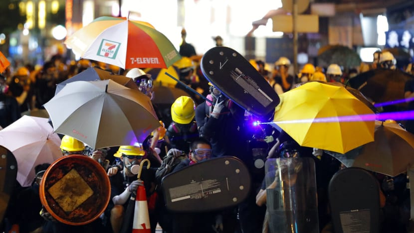 Laser pointers, umbrellas and traffic cones: Everyday items turned 'weapons' in Hong Kong protests