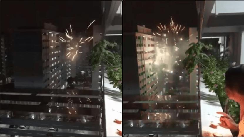 Police investigating 'discharge of fireworks' at Jurong West