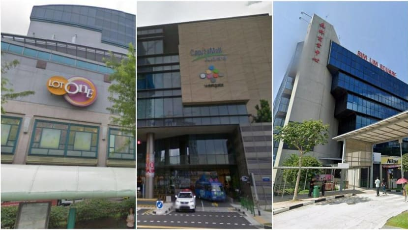 Lot One Shoppers' Mall, Westgate, Sim Lim Square among places visited by COVID-19 cases while infectious