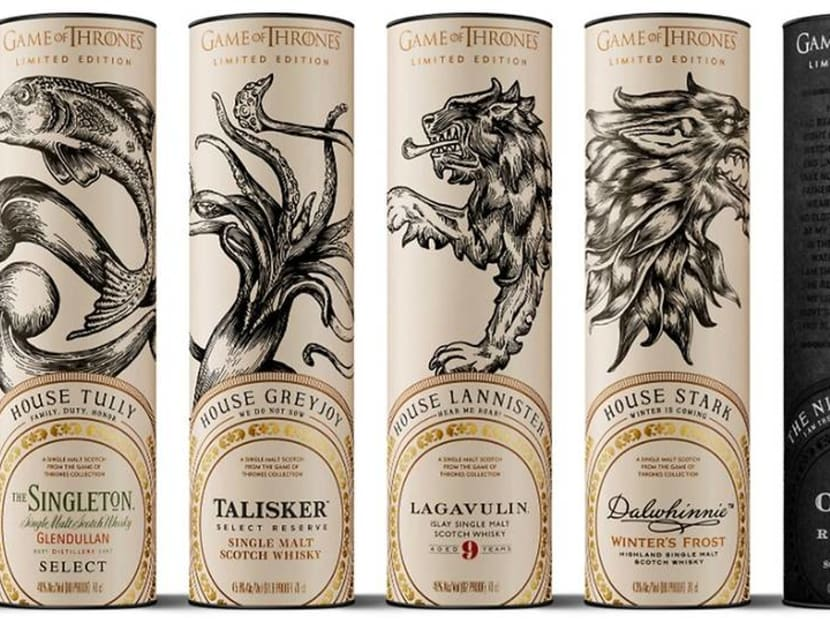 HBO releases limited-edition Game Of Thrones whiskey collection