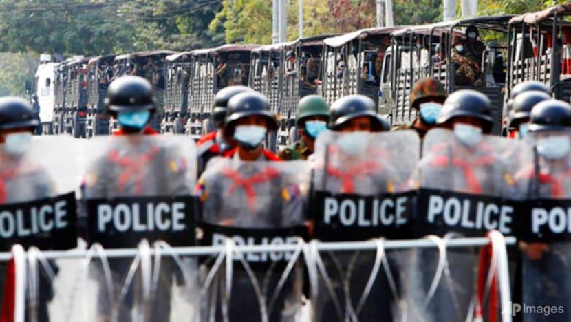 Myanmar's military taking away young men to crush uprising