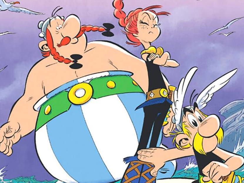 Even the sound effects are different in Asterix comics translated for American readers
