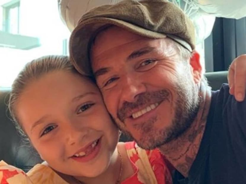 So no one told you David Beckham and daughter Harper are huge Friends fans?