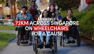 72km journey across Singapore on wheelchairs for a good cause | CNA Lifestyle