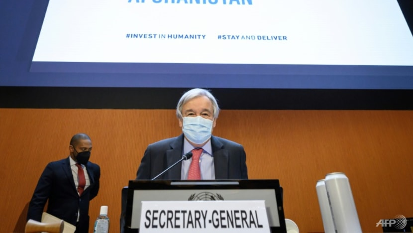 UN chief pleads for 'lifeline' for Afghanistan, engagement with Taliban