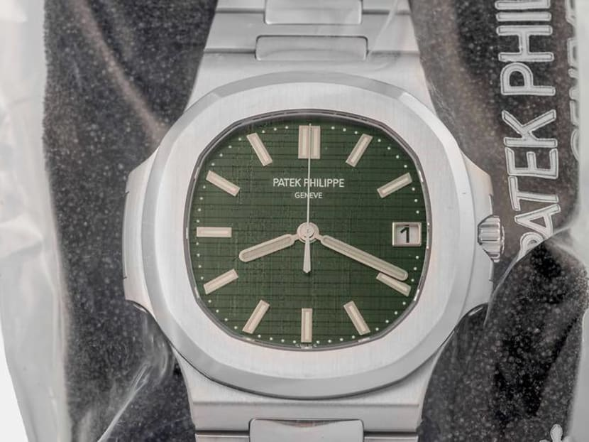 Olive green Patek Philippe Nautilus sells at auction for a staggering US$470,000