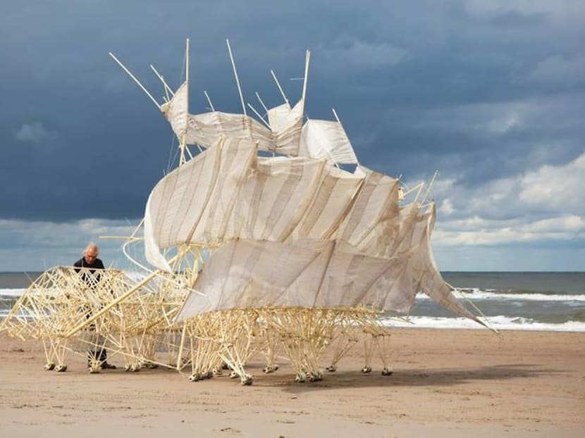 These mesmerising 'wind walkers' are camping out at ArtScience Museum