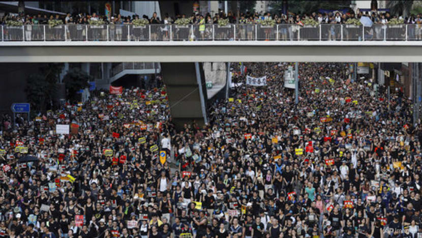 Hong Kong police investigating protest group