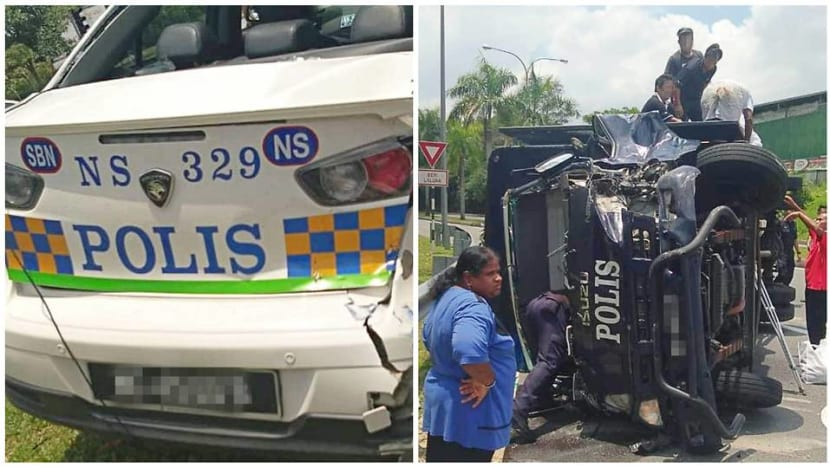 4 policemen, 2 convicts injured after police truck crashes into patrol car in Malaysia