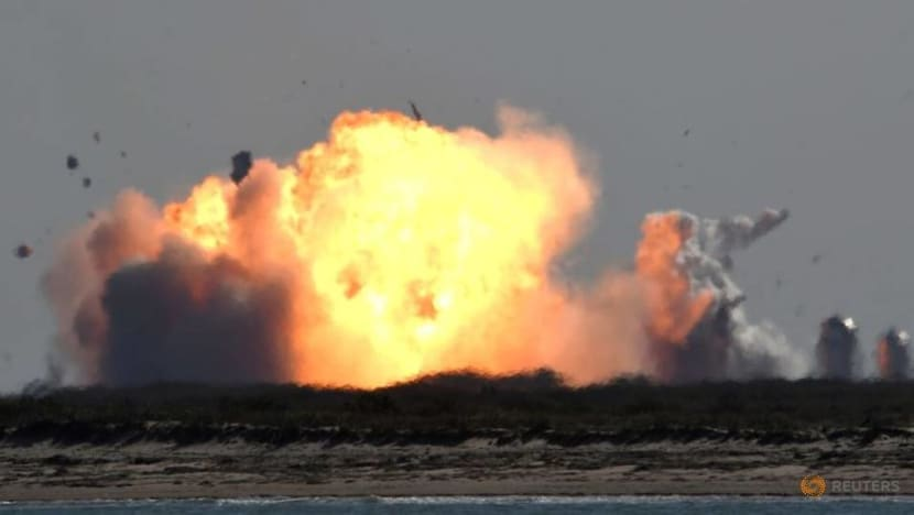 SpaceX Starship prototype rocket explodes on landing after test launch