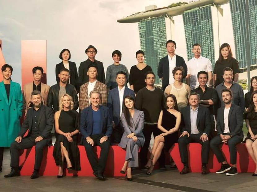 Stars Park Min Young, Andy Serkis, Diego Luna, Robin Wright in Singapore for Netflix showcase