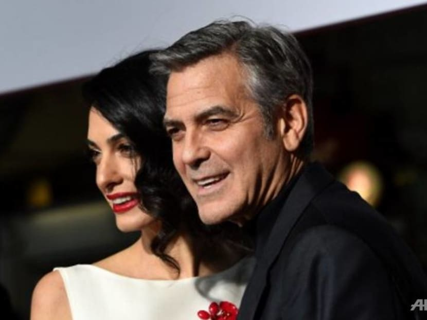 George Clooney's two-year-old twins are already pranksters–just like daddy