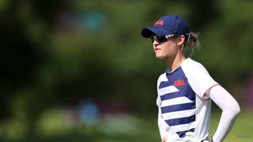 Olympics-Golf-Korda fires up with hot 62 to take four-shot lead