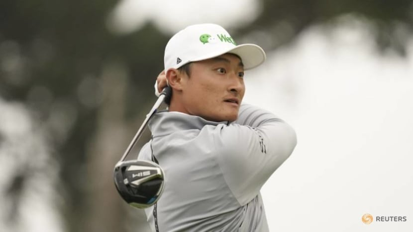Golf: China's Li moves two shots clear midway through his second round