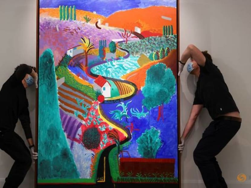 David Hockney masterpiece goes on view ahead of auction, expected to sell for US$35 million