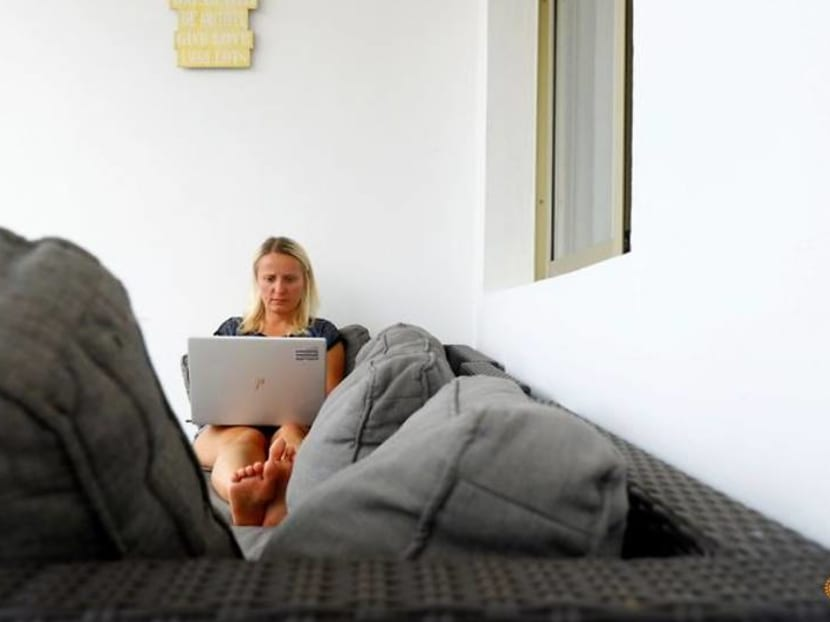 Sun-seekers enjoy European summer 'workcation' before office return