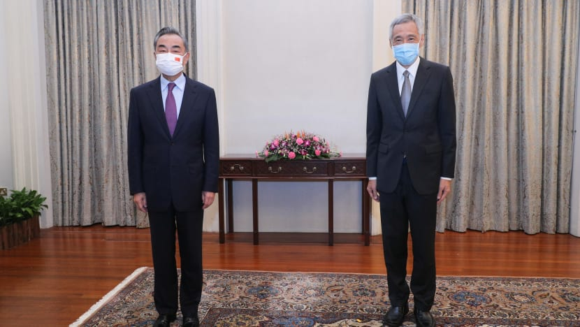 China's Foreign Minister Wang Yi and Singapore's PM Lee affirm 'excellent' relations