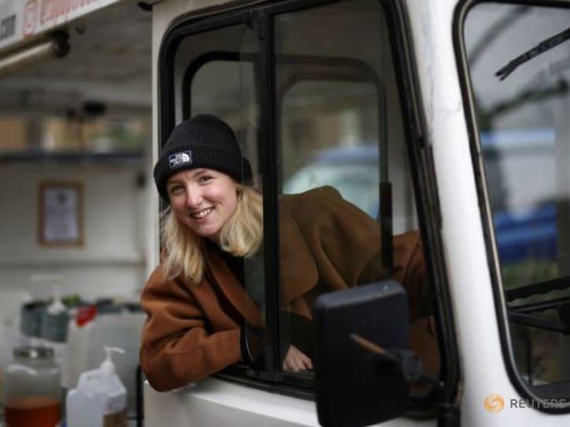 On a retro style milk truck, London entrepreneur chases a 'zero waste' future