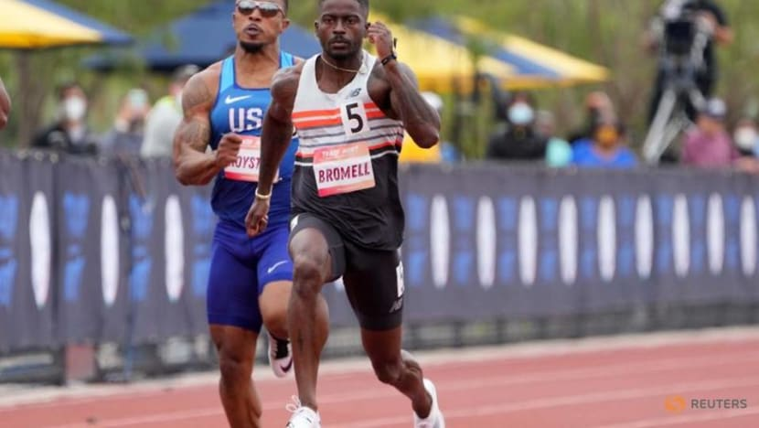 Athletics-Sprinter Bromell continues comeback to win Track Meet 100 metres