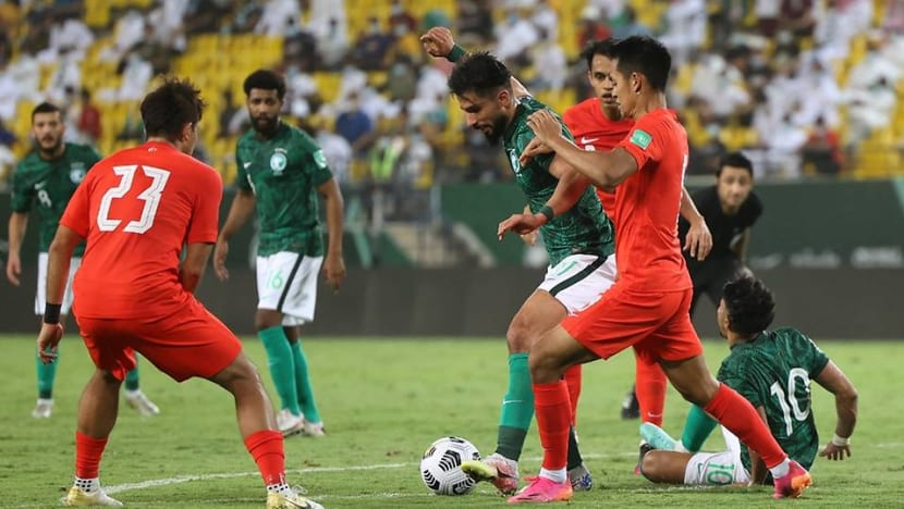 Football: Singapore lose 3-0 to Saudi Arabia in World Cup qualifier