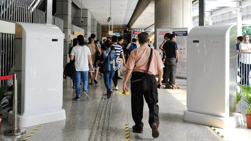 'Electronic guardian' screens commuters at Jurong East MRT station for suspicious items
