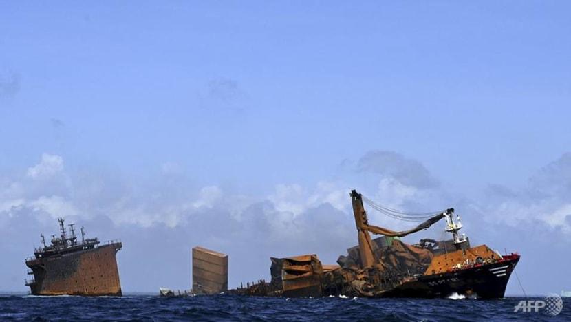 Sri Lanka readies for oil spill from sunken cargo ship