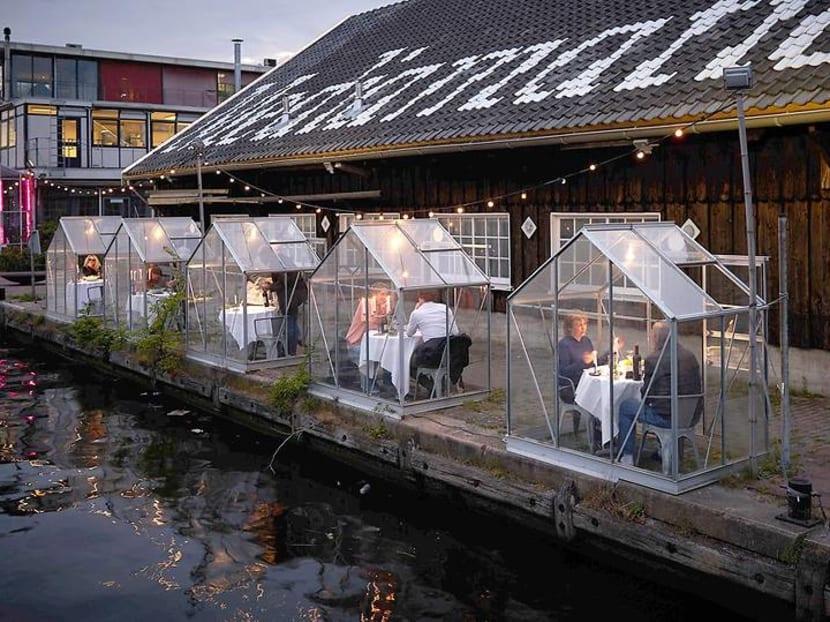 Unique ways restaurants are practicing safe distancing, around the world
