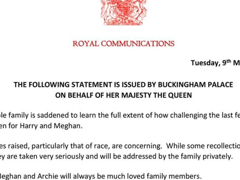 Saddened Queen Elizabeth will address Harry and Meghan's racism accusation